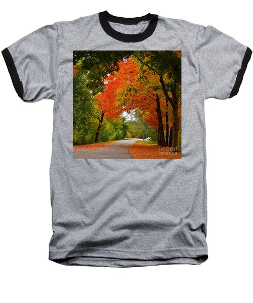 Autumn Canopy Baseball T-Shirt