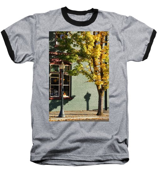 Autumn Detail In Old Town Grants Pass Baseball T-Shirt by Mick Anderson