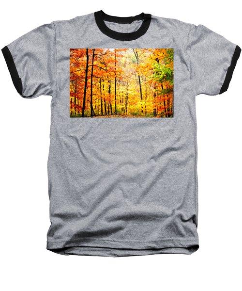 Baseball T-Shirt featuring the photograph Autumn Forest by Randall Branham