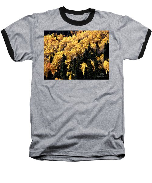 Autumn In Colorado Painting Baseball T-Shirt
