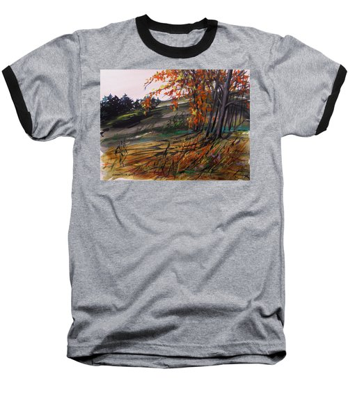 Baseball T-Shirt featuring the painting Autumn Intensity by John Williams