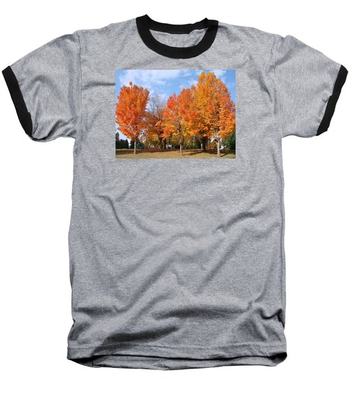 Baseball T-Shirt featuring the photograph Autumn Leaves by Athena Mckinzie