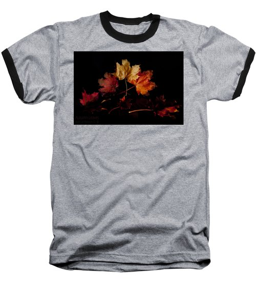 Baseball T-Shirt featuring the photograph Autumn Leaves by Beverly Cash