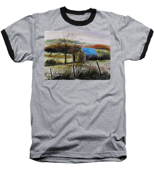 Baseball T-Shirt featuring the painting Autumn Light By John Williams by John Williams