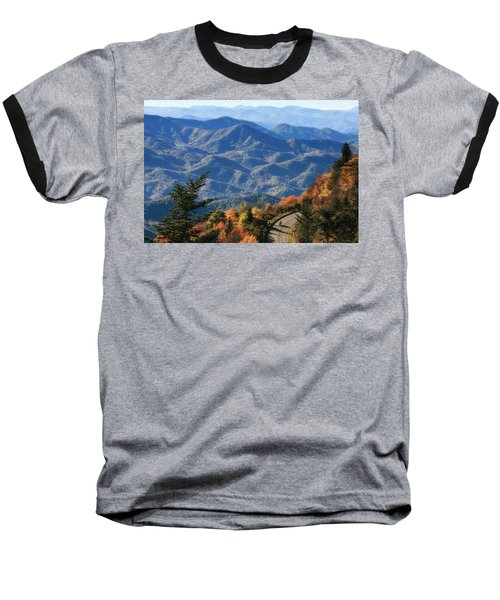 Baseball T-Shirt featuring the photograph Autumn On The Blue Ridge Parkway by Lynne Jenkins