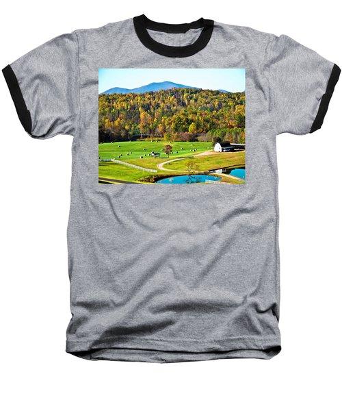Baseball T-Shirt featuring the photograph Autumn On The Farn by Susan Leggett