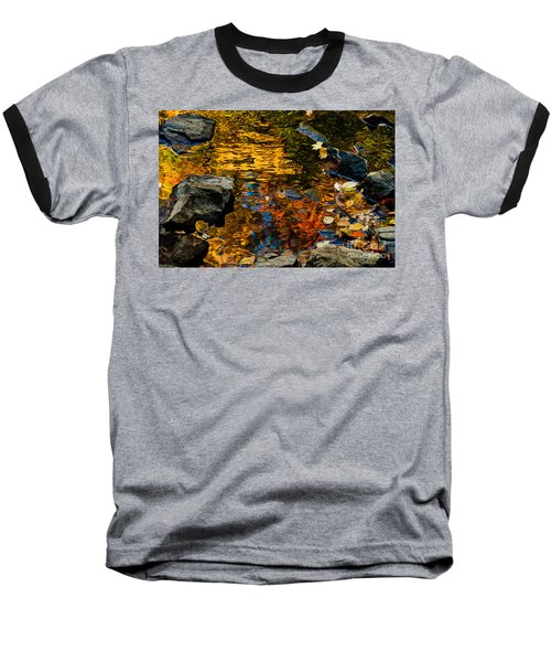 Baseball T-Shirt featuring the photograph Autumn Reflections by Cheryl Baxter