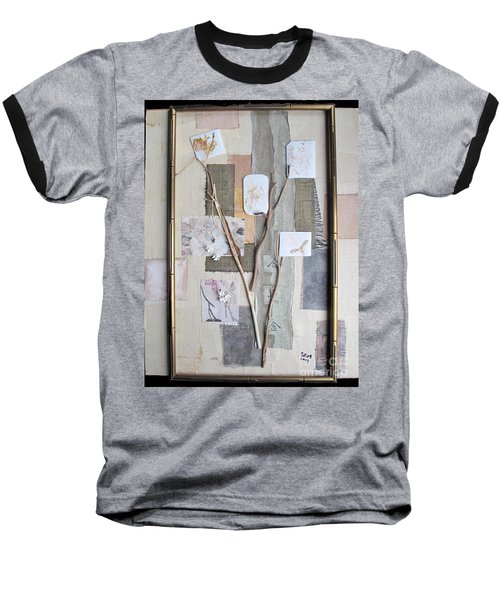 Baseball T-Shirt featuring the mixed media Autumn by Sandy McIntire