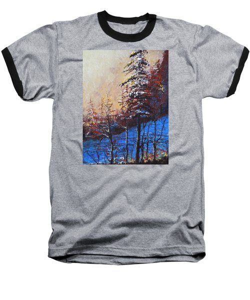 Baseball T-Shirt featuring the painting Autumn Silence by Dan Whittemore