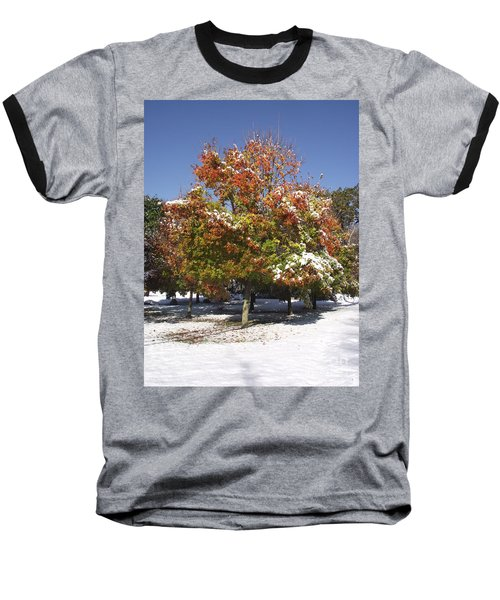 Autumn Snow Baseball T-Shirt