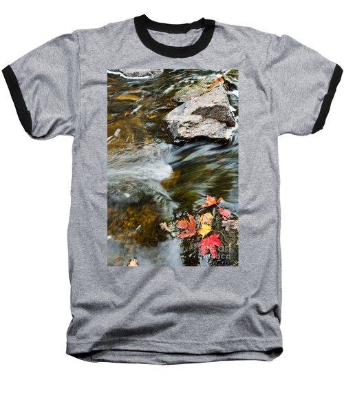 Autumn Stream Baseball T-Shirt by Cheryl Baxter
