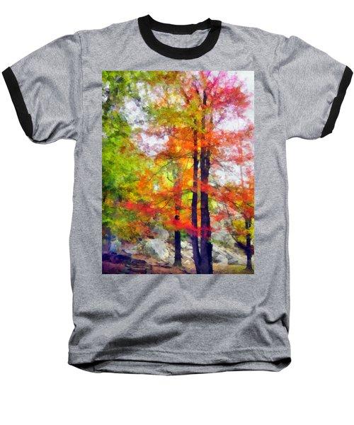 Autumnal Rainbow Baseball T-Shirt
