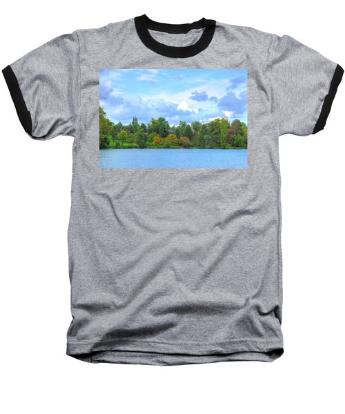Baseball T-Shirt featuring the photograph Autumn's Beauty At Hoyt Lake by Michael Frank Jr