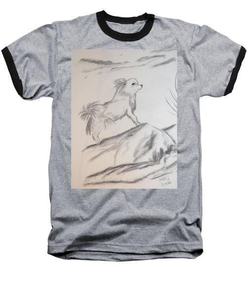 Aye Chihuahua Baseball T-Shirt by Maria Urso