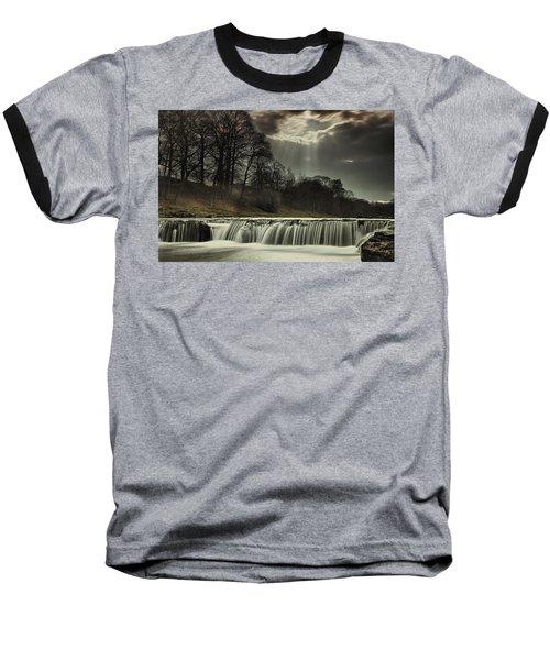 Aysgarth Falls Yorkshire England Baseball T-Shirt