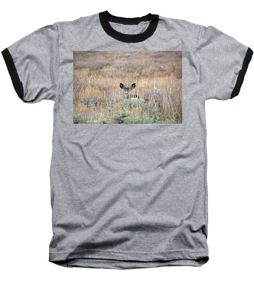 Baseball T-Shirt featuring the photograph Babe In Hiding by Lynn Bauer