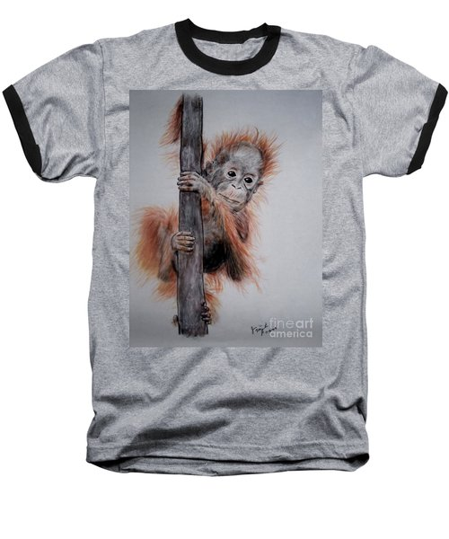 Baby Orangutan  Baseball T-Shirt