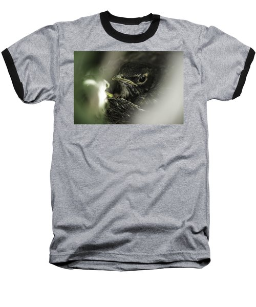 Baseball T-Shirt featuring the photograph Baby Robin by Tom Gort