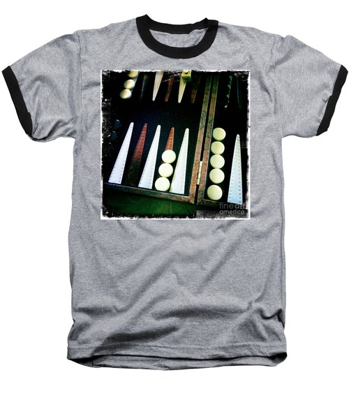 Baseball T-Shirt featuring the photograph Backgammon Anyone by Nina Prommer
