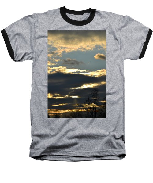 Backlit Clouds Baseball T-Shirt by Bonnie Myszka
