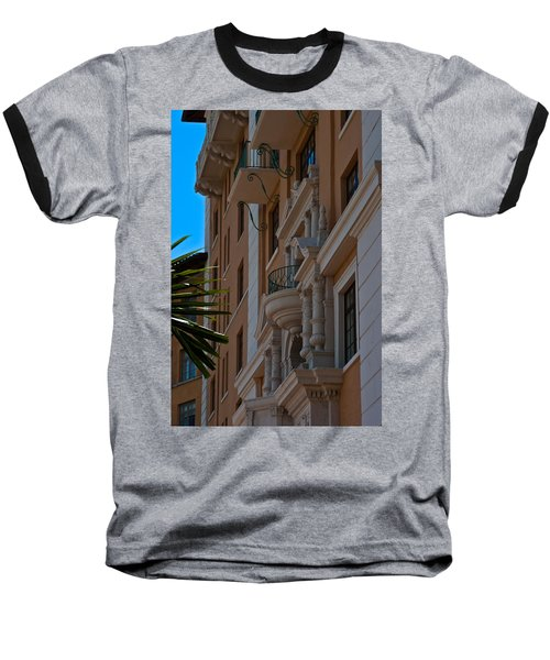 Baseball T-Shirt featuring the photograph Balcony At The Biltmore Hotel by Ed Gleichman