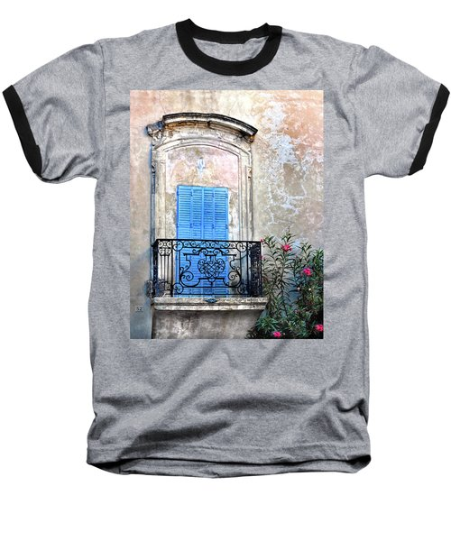 Baseball T-Shirt featuring the photograph Balcony Provence France by Dave Mills