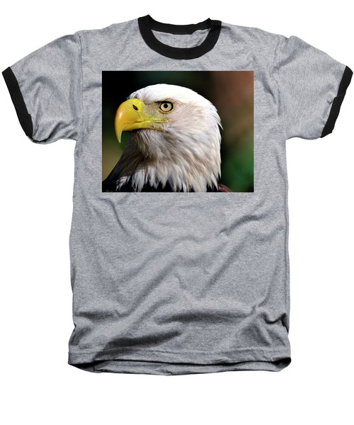 Bald Eagle Close Up Baseball T-Shirt