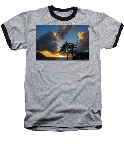 Bali Hai Sunset Baseball T-Shirt by Lynn Bauer