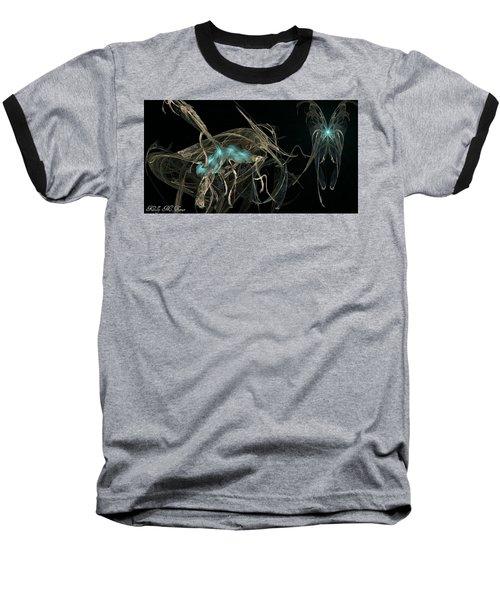 Ballerina Butterfly Baseball T-Shirt by Kelly Turner