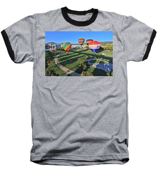 Balloons In Coolidge Park Baseball T-Shirt
