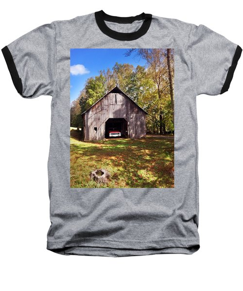 Barn An Chevy Baseball T-Shirt by Janice Spivey