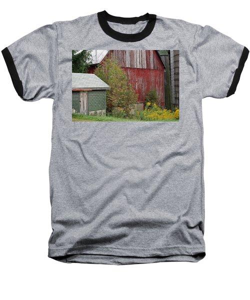 Barn Buildings Baseball T-Shirt