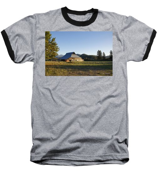 Barn In The Applegate Baseball T-Shirt by Mick Anderson