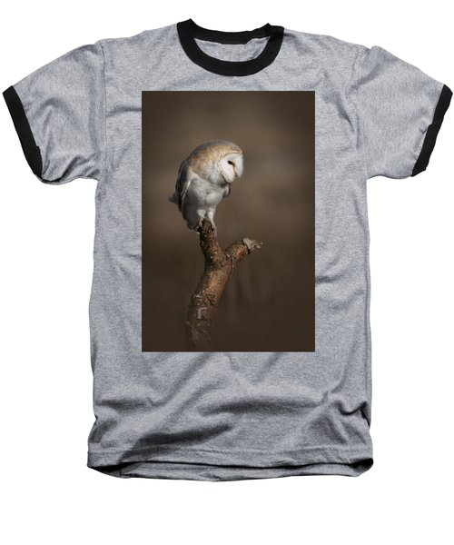 Barn Owl On The Lookout Baseball T-Shirt