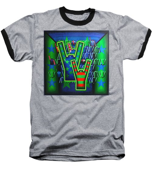 Baseball T-Shirt featuring the painting Basilea Star  by Mark Howard Jones
