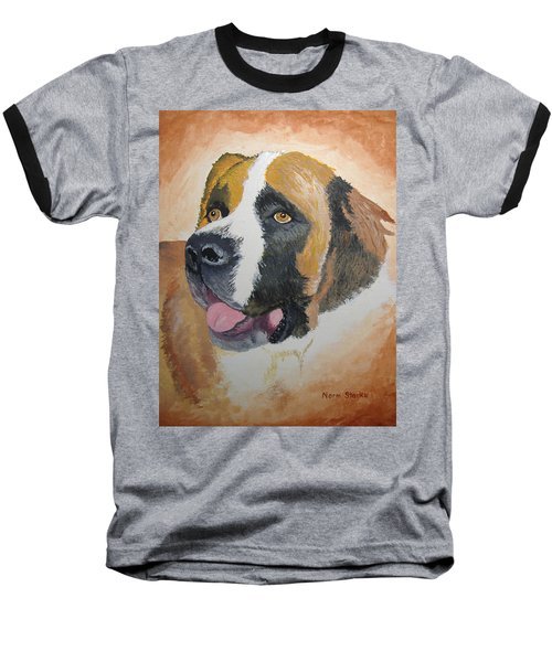 Baseball T-Shirt featuring the painting Baxter by Norm Starks