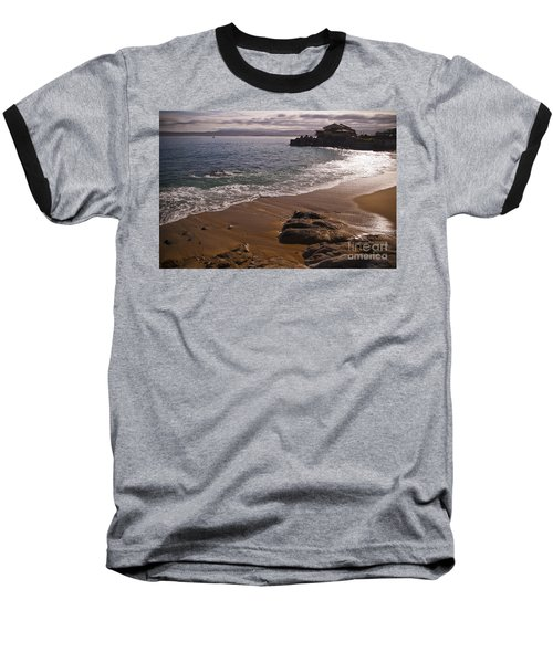 Beach At Monteray Bay Baseball T-Shirt by Darcy Michaelchuk