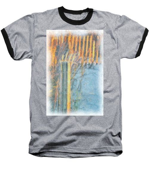 Baseball T-Shirt featuring the photograph Beach Fence by Lynne Jenkins