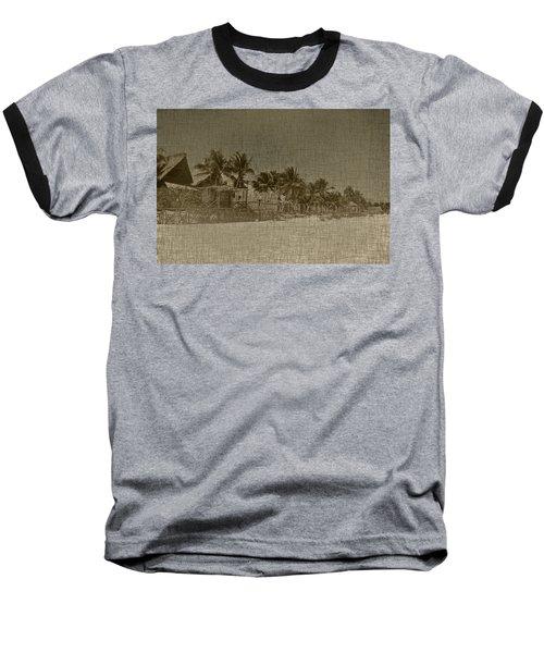 Beach Huts In A Tropical Paradise Baseball T-Shirt