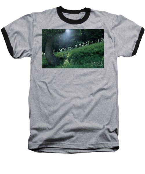 Bear-grass Ridge Baseball T-Shirt by Sharon Elliott