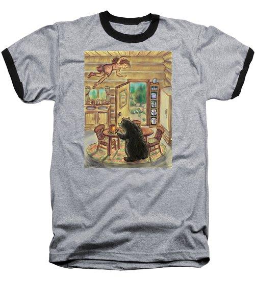 Bear In The Kitchen - Dream Series 7 Baseball T-Shirt by Dawn Senior-Trask