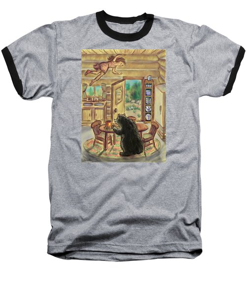 Bear In The Kitchen - Dream Series 7 Baseball T-Shirt