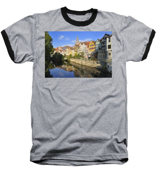 Beautiful German Town Tuebingen - Neckar Waterfront Baseball T-Shirt