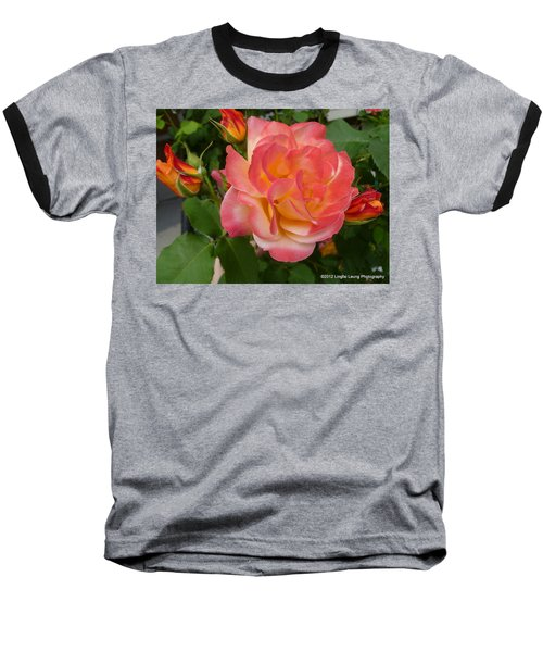 Baseball T-Shirt featuring the photograph Beautiful Rose With Buds by Lingfai Leung