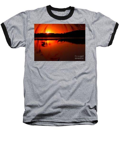 Beauty Looks Back Baseball T-Shirt by Clayton Bruster