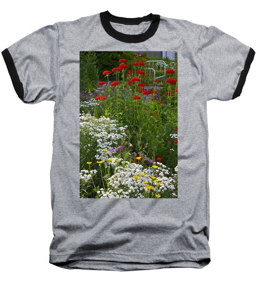 Baseball T-Shirt featuring the photograph Bed Of Flowers by Johanna Bruwer
