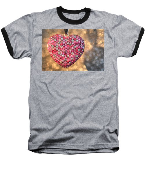 Bedazzle My Heart Baseball T-Shirt by Shelley Neff