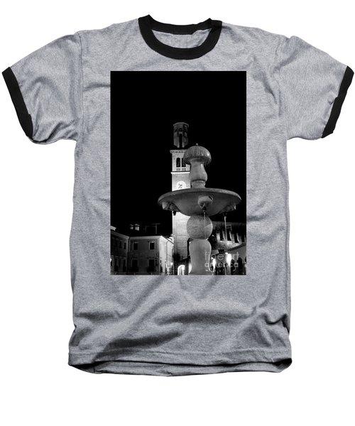 Behind The Strange Fountain Baseball T-Shirt