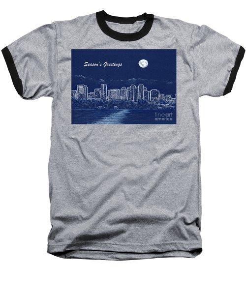 Bellevue Skyline Holiday Card Baseball T-Shirt