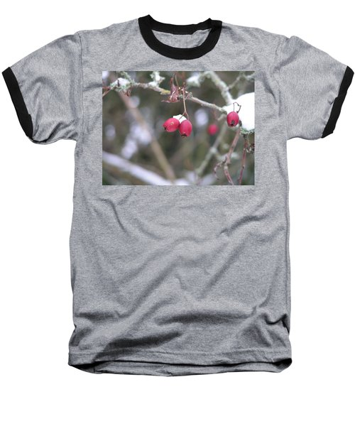 Berries In Winter Baseball T-Shirt